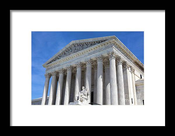 Supreme Court Framed Print featuring the photograph United States Supreme Court Building by Steven Frame