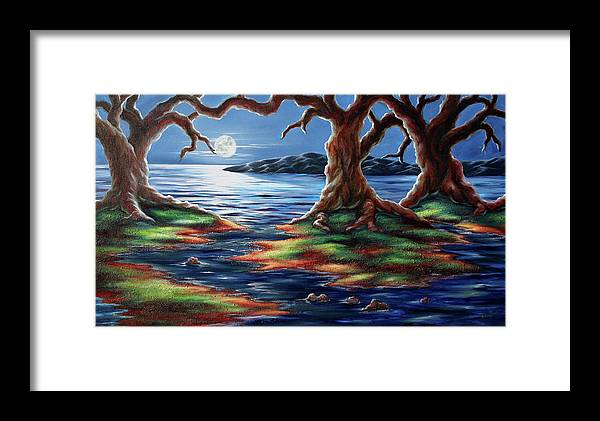 Textured Painting Framed Print featuring the painting United Trees by Jennifer McDuffie