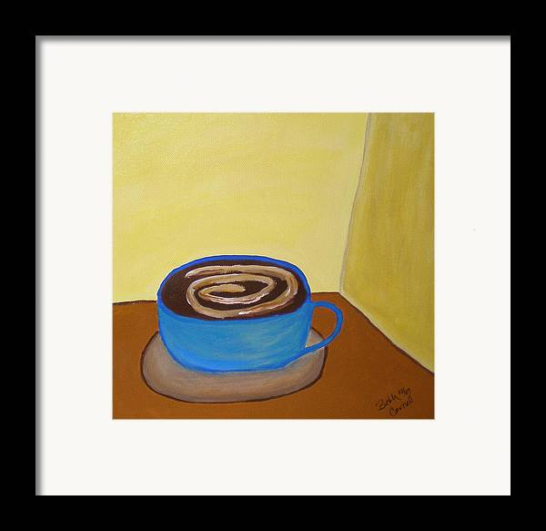Universal Mocha Framed Print featuring the painting Universal Mocha by Beth Cornell