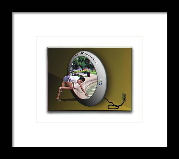 3d Framed Print featuring the photograph Universal Portal - Use Red-cyan 3d Glasses by Brian Wallace