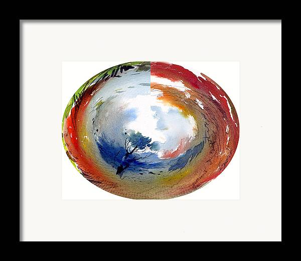 Landscape Water Color Watercolor Digital Mixed Media Framed Print featuring the painting Universe by Anil Nene
