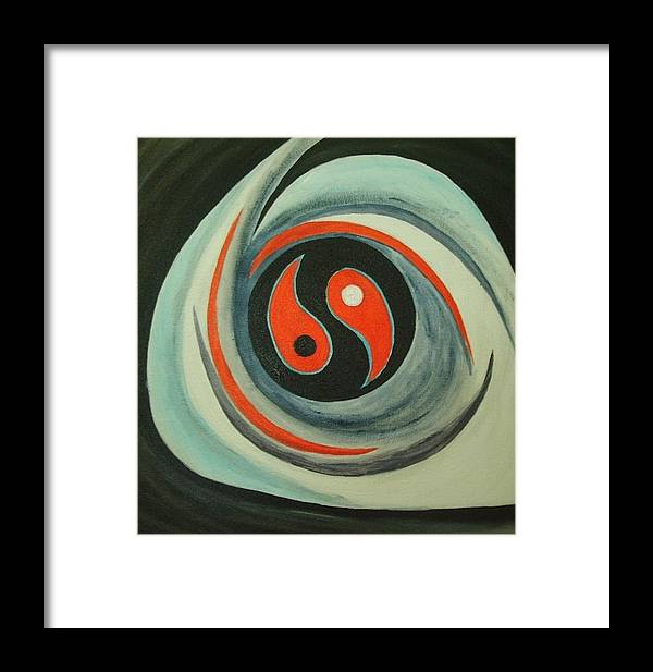 Movement Framed Print featuring the painting Universe by Toresa Looui