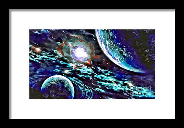 Uzart Framed Print featuring the digital art Universe #0071 by Urszula Zogman