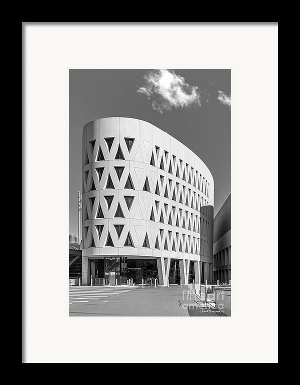American Framed Print featuring the photograph University Of Cincinnati Lindner Center by University Icons