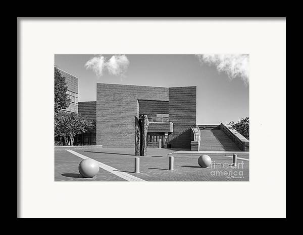 American Framed Print featuring the photograph University Of Cincinnati Mary Emery Hall by University Icons