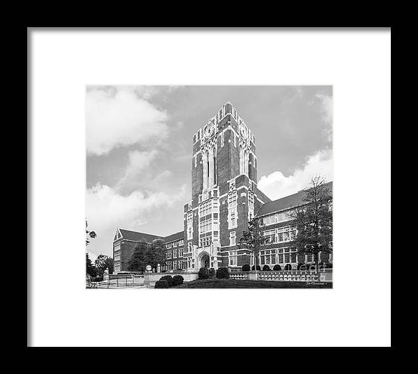University Of Tennessee Ayres Hall Horizontal Framed Print by ...