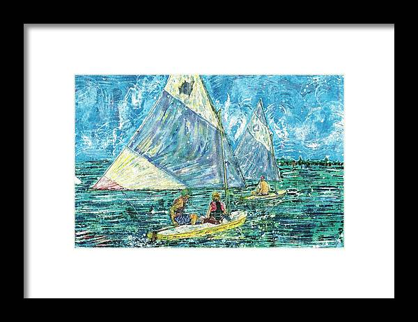 Framed Print featuring the painting Unknown Title by Nicholas Cantrell
