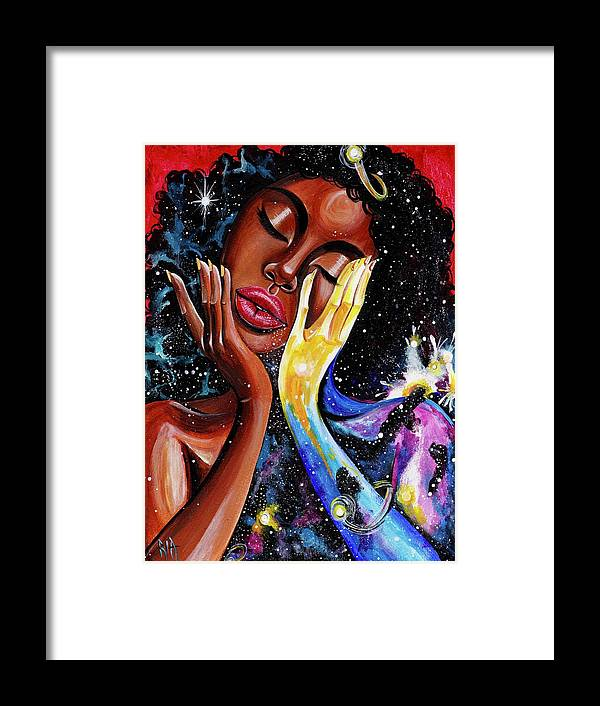 Universe Framed Print featuring the painting Unlocked U.Never.See.All by Artist RiA