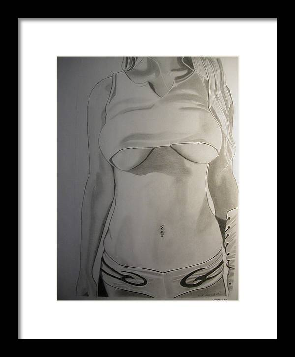 Pencil Framed Print featuring the drawing Unnamed by Nick H