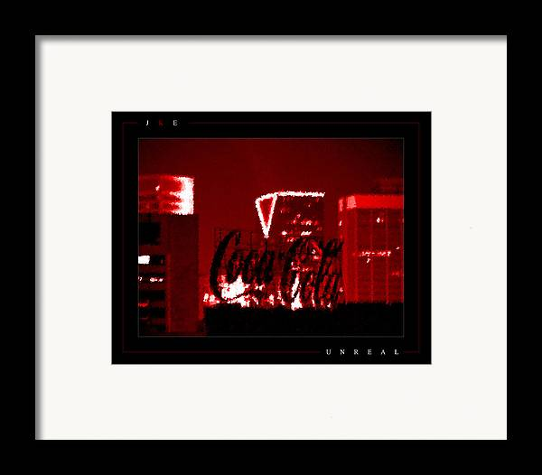 Coke Framed Print featuring the photograph Unreal by Jonathan Ellis Keys
