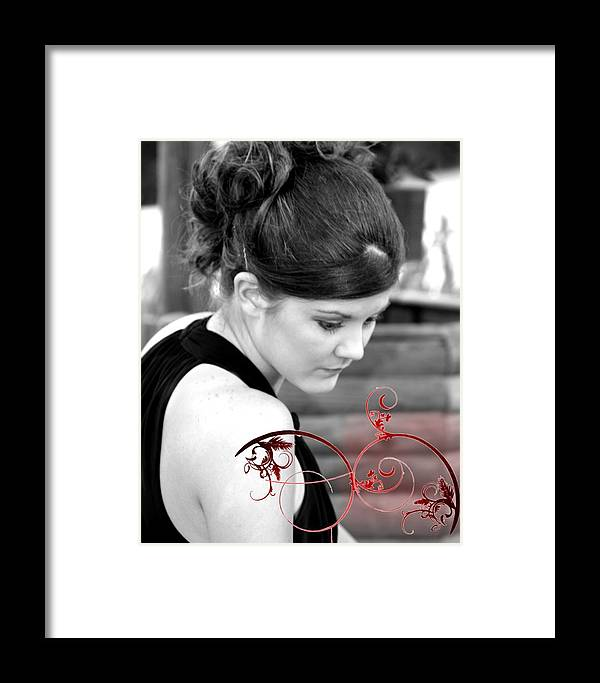 Female Framed Print featuring the photograph Unrealized Beauty by Lynn Reid