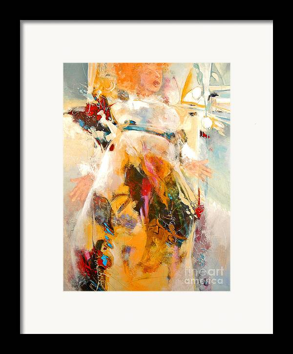 Figure Framed Print featuring the painting Unseeing Singer by Dale Witherow