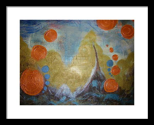 Stormy Waters Framed Print featuring the painting Untamed Angst  by Seemoy Law-Hugh