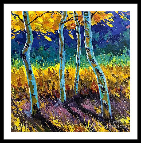 Aspen Framed Print featuring the painting Until The Last Moment by Hunter Jay