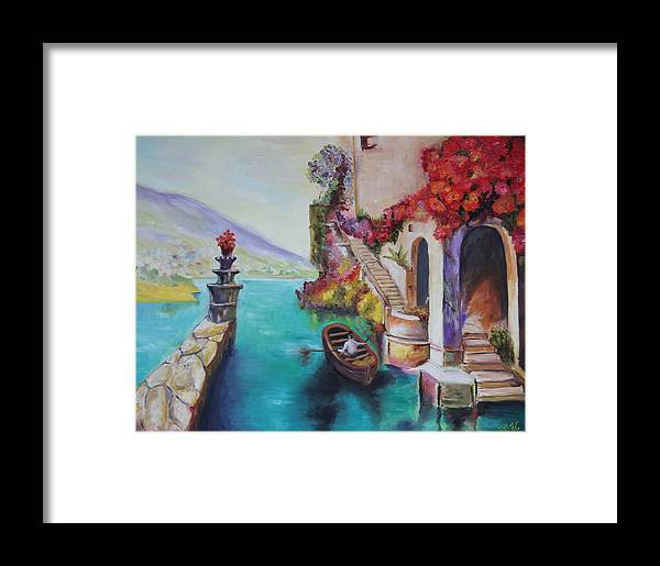 Colors Framed Print featuring the painting Untiteled by Taly Bar