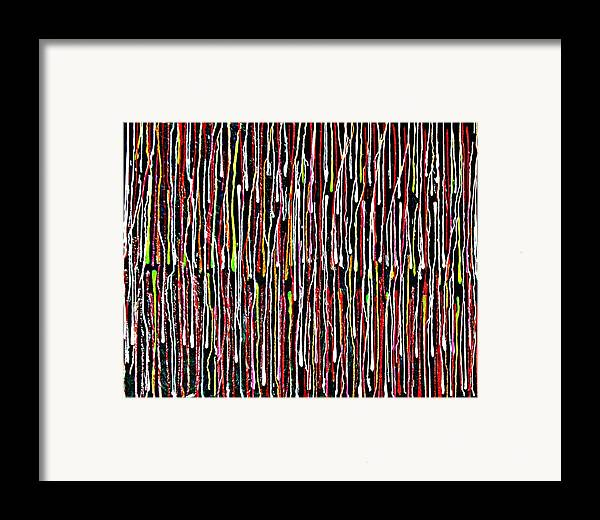 Abstract Framed Print featuring the painting Untitled 1 by Paul Freidin