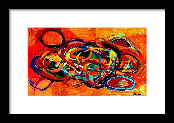 Abstract Framed Print featuring the painting Untitled 2 by Paul Freidin