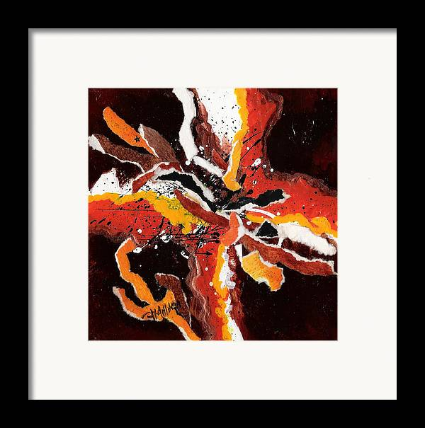 Abstract Framed Print featuring the painting Untitled 2 by Tara Milliken