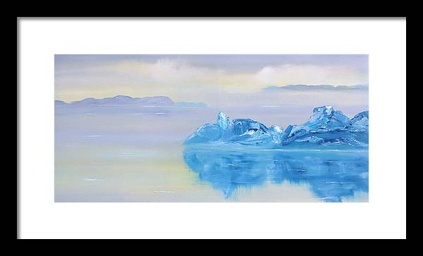 Landscape Framed Print featuring the painting Untitled 227 by David Snider