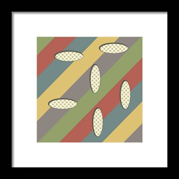 Pattern Framed Print featuring the digital art Untitled - 3 by Finlay McNevin
