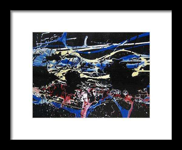 Abstract Framed Print featuring the painting Untitled 3 by Paul Freidin