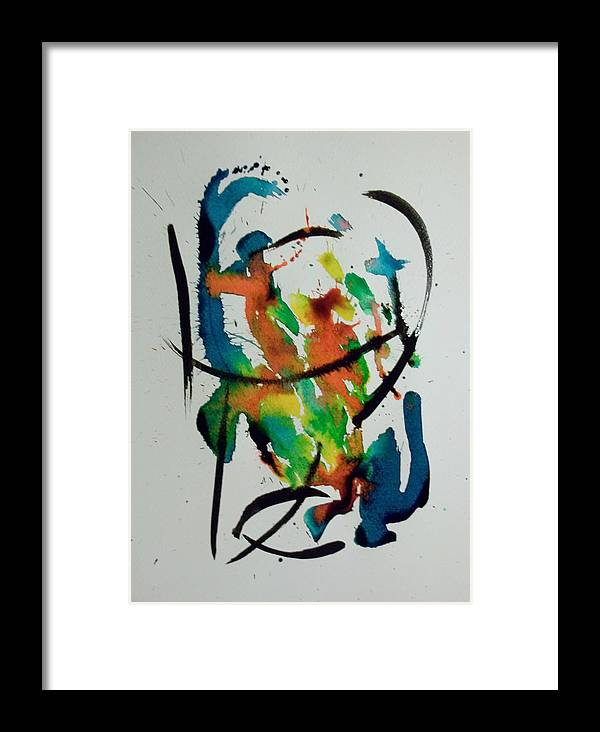 Festive Framed Print featuring the painting Untitled -a by Rene Avalos