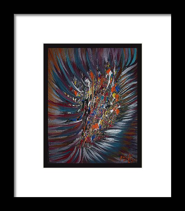 Abstract Framed Print featuring the painting Untitled Abstract by Hollie Leffel