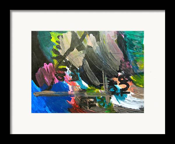Abstract Framed Print featuring the mixed media Untitled by Andrew Hagopian