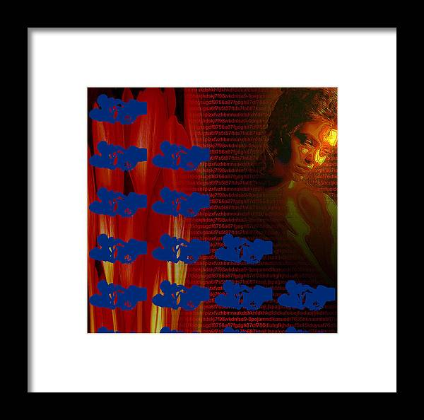 Framed Print featuring the digital art Untitled by Bharat Gothwal