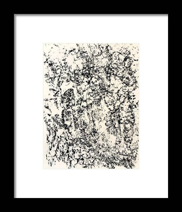 Drawing Framed Print featuring the drawing Untitled Black by Robert Chambers
