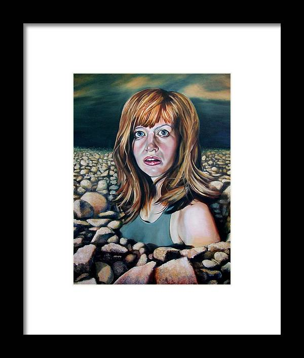 Portrait Framed Print featuring the painting Untitled by Chris Slaymaker