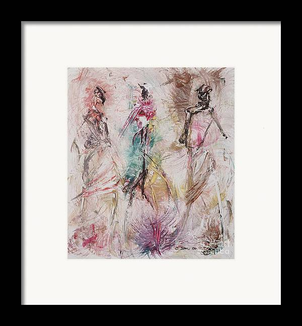Abstract Framed Print featuring the painting Untitled by Ikahl Beckford