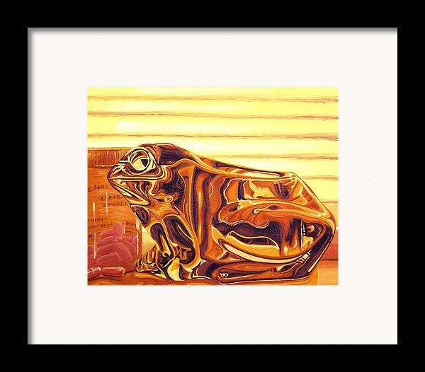 Frog Framed Print featuring the painting Untitled by Judy Henninger