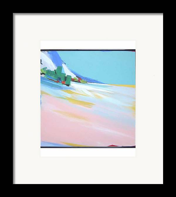 Abstracted Landscape Framed Print featuring the painting Untitled Landscape by M Jaquis