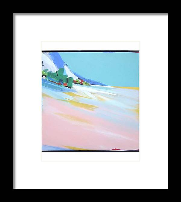 Abstracted Landscape Framed Print featuring the painting Untitled Landscape by Marston A Jaquis