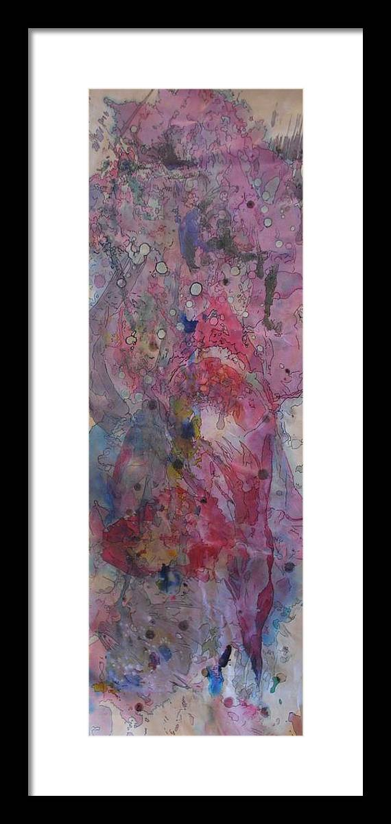 Mixed Media Framed Print featuring the painting Untitled by Margaret Fronimos