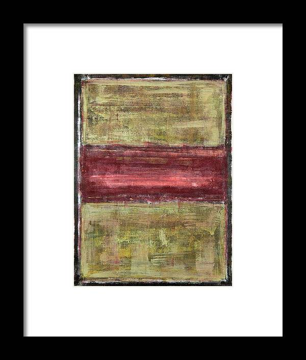 Black Framed Print featuring the painting Untitled No. 21 by Julie Niemela