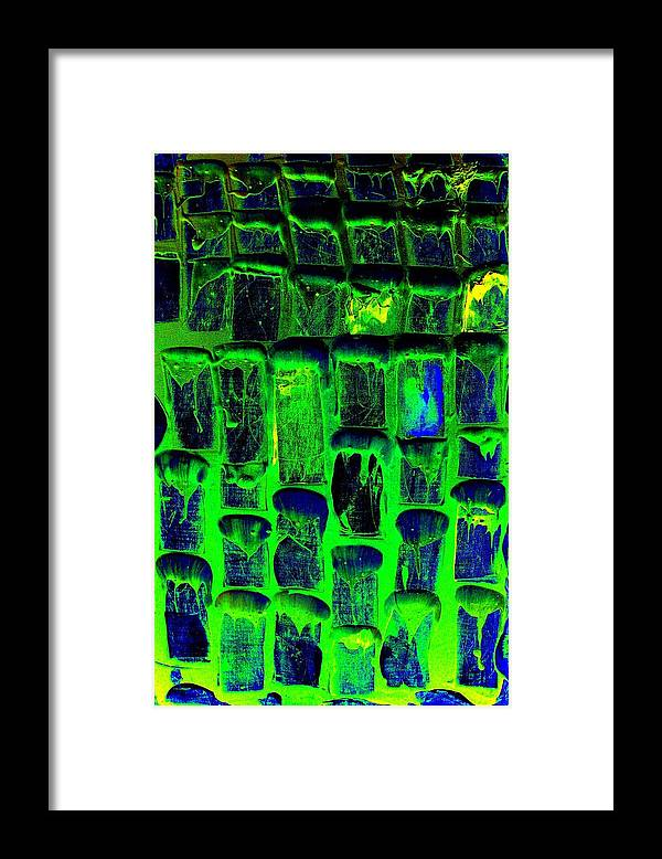 Abstract Prints Framed Print featuring the painting Untitled by Teo Santa