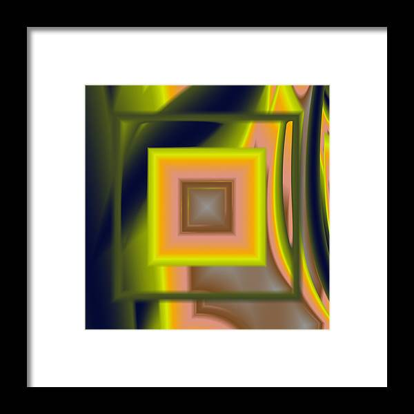 Square Framed Print featuring the digital art Untitled Xii by Tiia Vissak