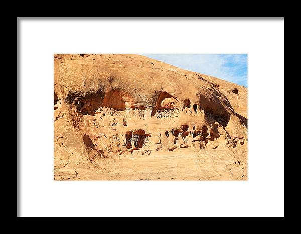 Rocks Framed Print featuring the photograph Unusual Rock Formation by Jeff Swan