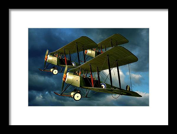 Bi Planes Framed Print featuring the photograph Up In The Air by Steven Agius