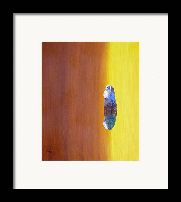 Painting Framed Print featuring the painting Up To The Top by Greg Gierlowski