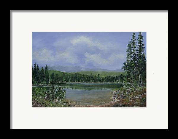 Lake Framed Print featuring the painting Upland Lake by Ken Ahlering