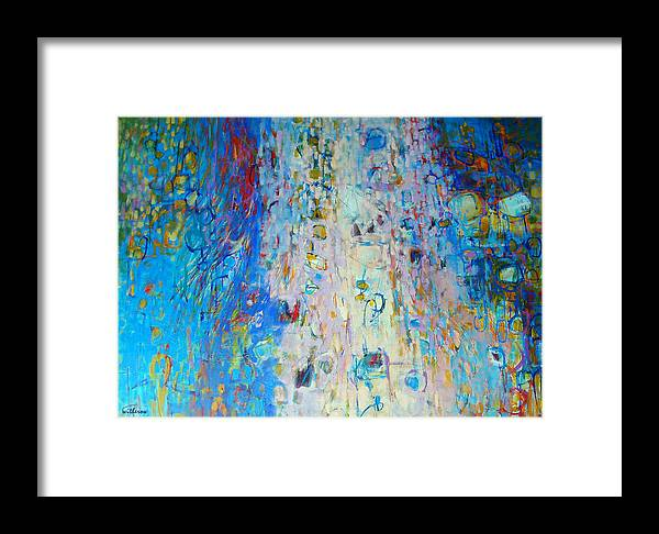 Abstract Framed Print featuring the painting Uplifted by Dale Witherow