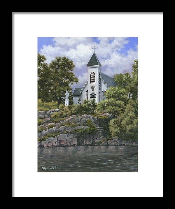 Church Framed Print featuring the painting Upon This Rock by Richard De Wolfe