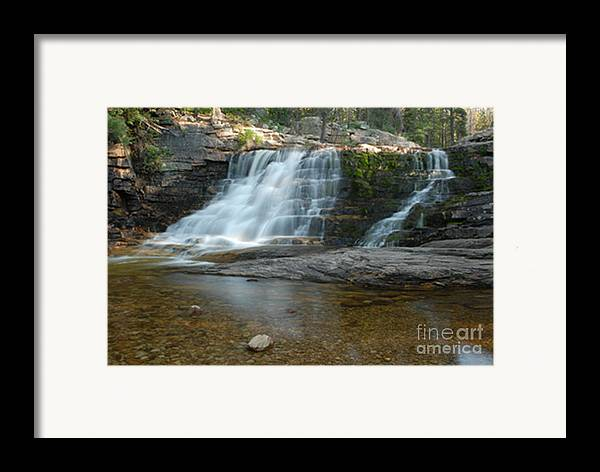 Waterfall Framed Print featuring the photograph Upper Provo River Falls by Dennis Hammer