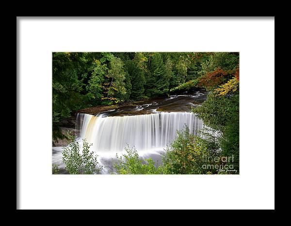 Michigan Upper Peninsula Framed Print featuring the photograph Upper Tahquamenon Falls by Steve Javorsky