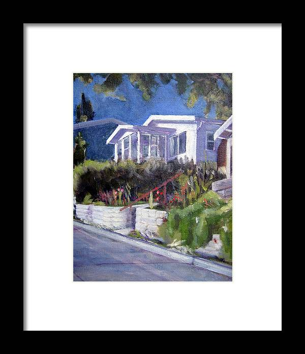 Framed Print featuring the painting Upslope by Richard Willson