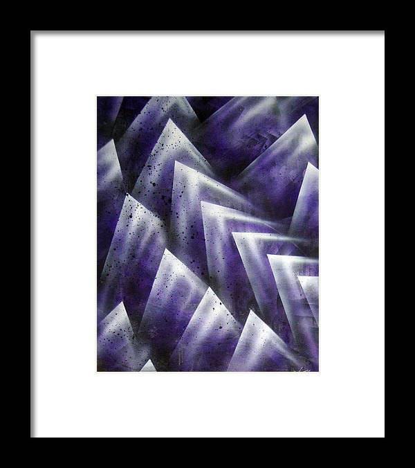 Organic Framed Print featuring the painting Upward by Leigh Odom