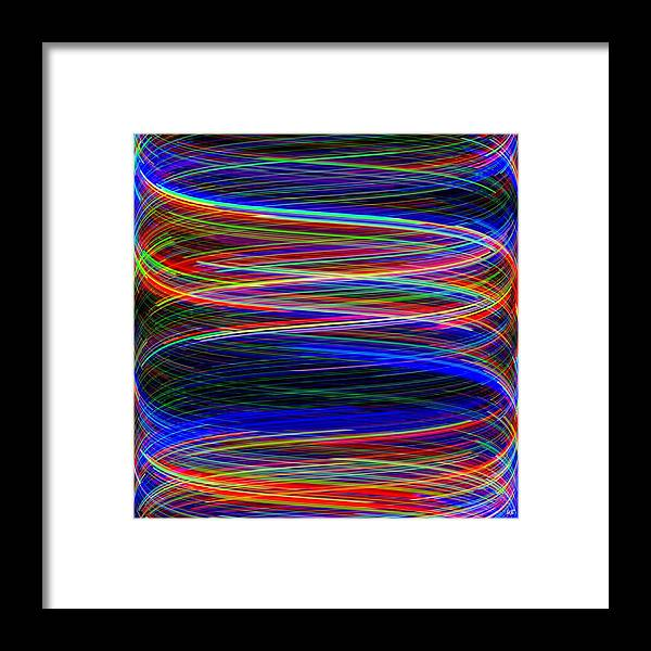Abstract Framed Print featuring the digital art Upwardly Mobile by Will Borden